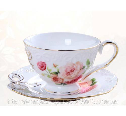 "Чайна пара ""Бант"" чашка 220мл з блюдцем"