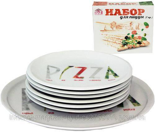 Набір тарілок для піци Napoli Піца, страва Ø30см і 6 тарілок Ø20см