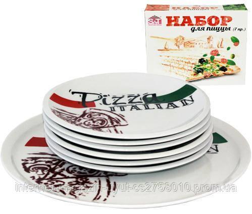 Набір тарілок для піци Napoli Італіан, страва Ø30см і 6 тарілок Ø20см