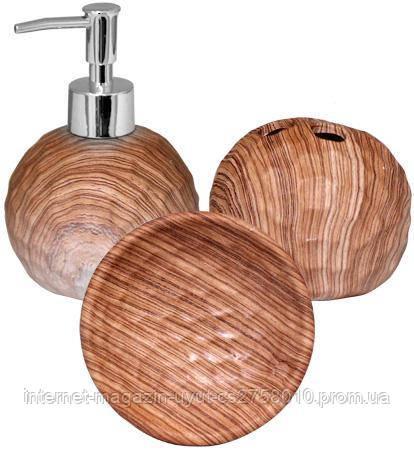 """Набір аксесуарів """"Бук"""" для ванної кімнати 3 предмета, кераміка"""