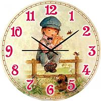 Часы настенные Свирель Детская серия МДФ круг 25 см