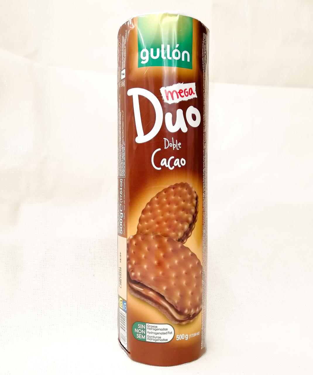 Сэндвич печенье Gullon Mega Duo Double Cacao 500 gramm