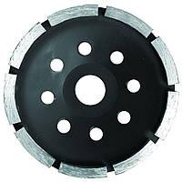 Круг алмазный сегментный шлифовальный (чашечный, 1 ряд) Ø115х5.0х22.2мм, 11000об/мин Sigma (1912021)