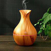 🔝  Ультразвуковой увлажнитель воздуха настольный USB Aroma Humidifier KJR-036 (Светлое Дерево) 🎁%🚚