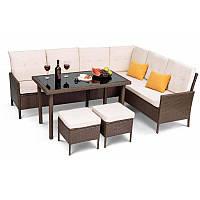 Садовая мебель плетенная VENICE Brown мебель из искусственного ротанга для дома, сада, кафе и ресторанов