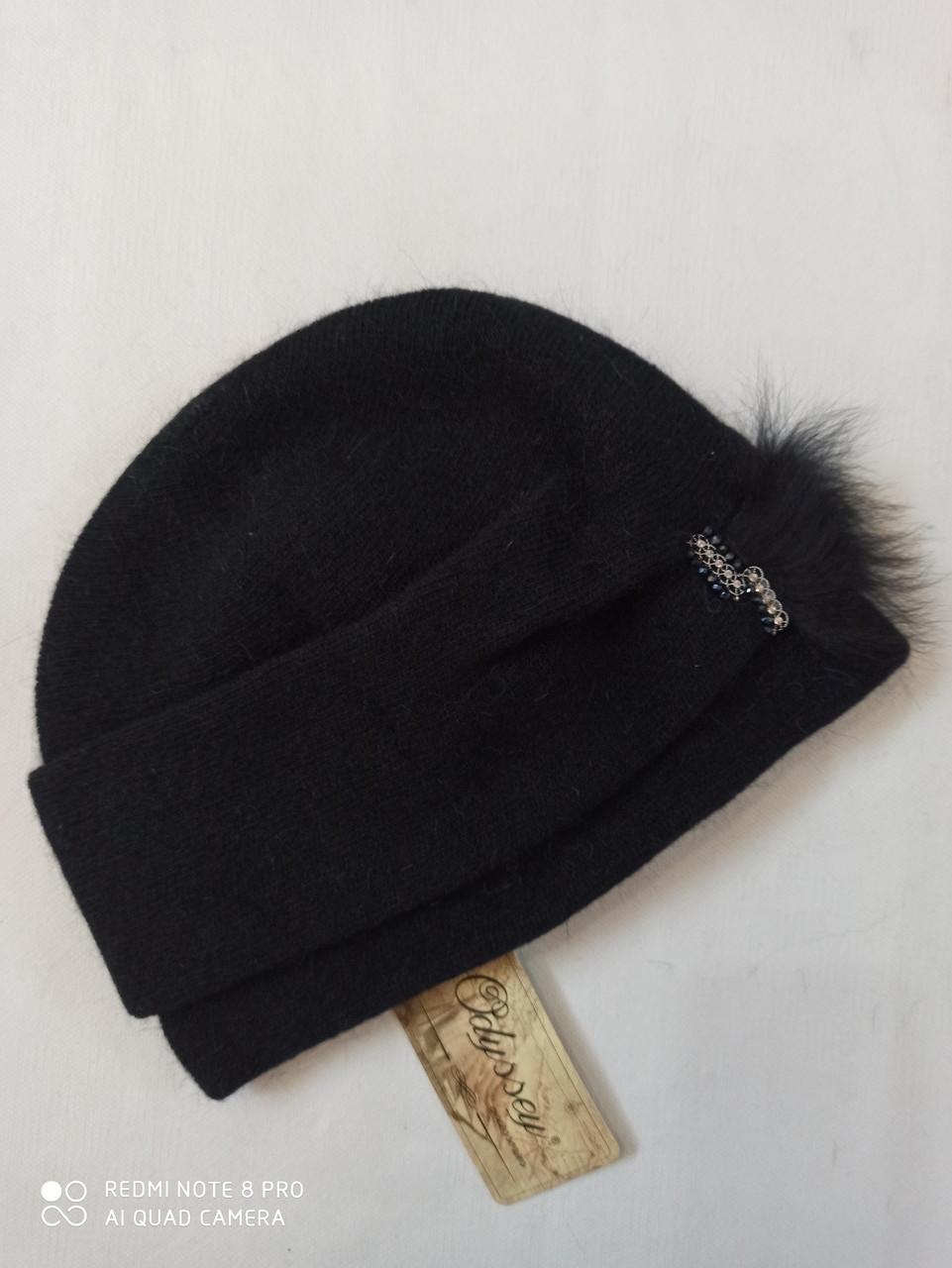 Шапка из ангоры Сафина   ODYSSEY 45353  чёрный
