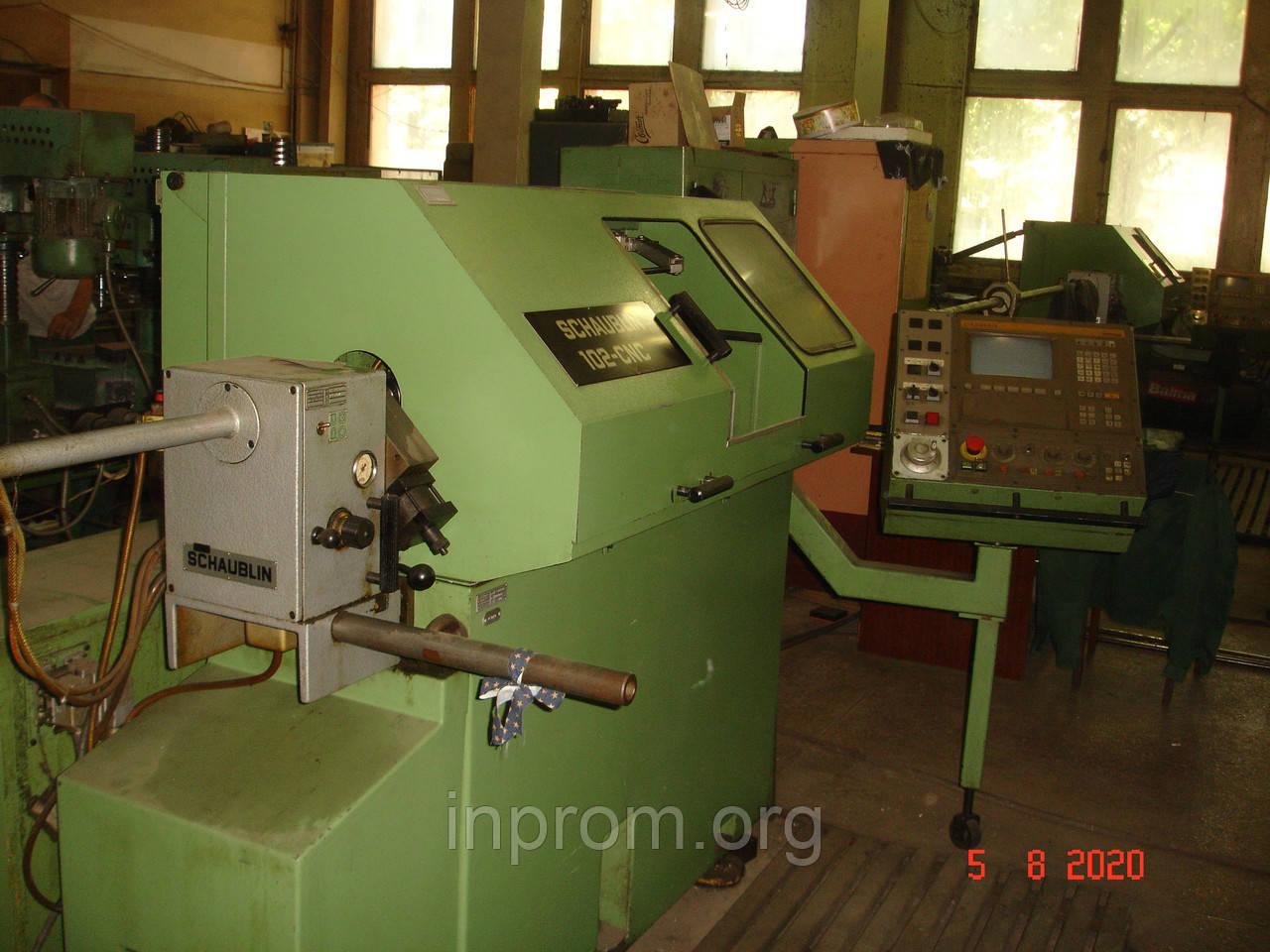 Станок токарный с ЧПУ SCHAUBLIN 102CNC в рабочем состоянии