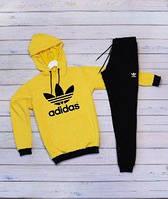 Мужской спортивный костюм Adidas(адидас) желто-черного цвета