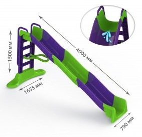 Горка Doloni мега большая фиолетово-зеленая (01450/2)
