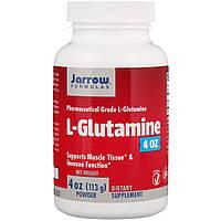 L-глютамин в порошке, L-Glutamine Powder, Jarrow Formulas, 113 гр.