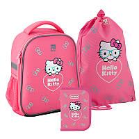 Рюкзак школьный каркасный Hello Kitty рюкзак пенал сумка SET_HK20-555S