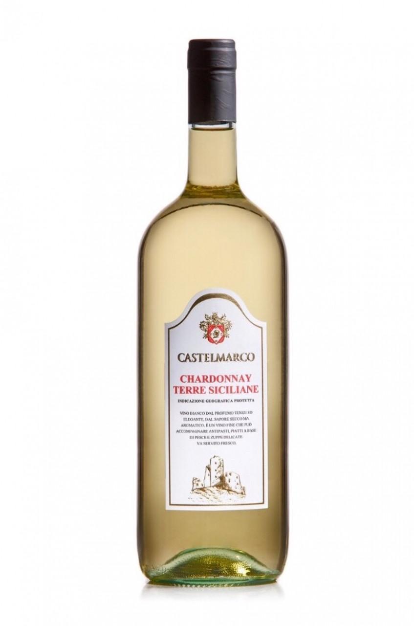 Вино біле сухе CHARDONNAY Castelmarco (Шардоне Венето) 1.5L
