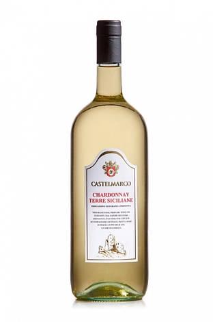 Вино біле сухе CHARDONNAY Castelmarco (Шардоне Венето) 1.5L, фото 2
