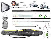 """Набор рыболовный """"Два фидера 3.6м полный комплект"""" для ловли мирной рыбы, готовый к использованию"""