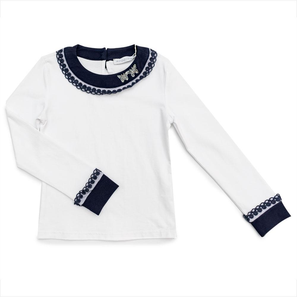 Блуза для девочек Modalora 140  белая K701416