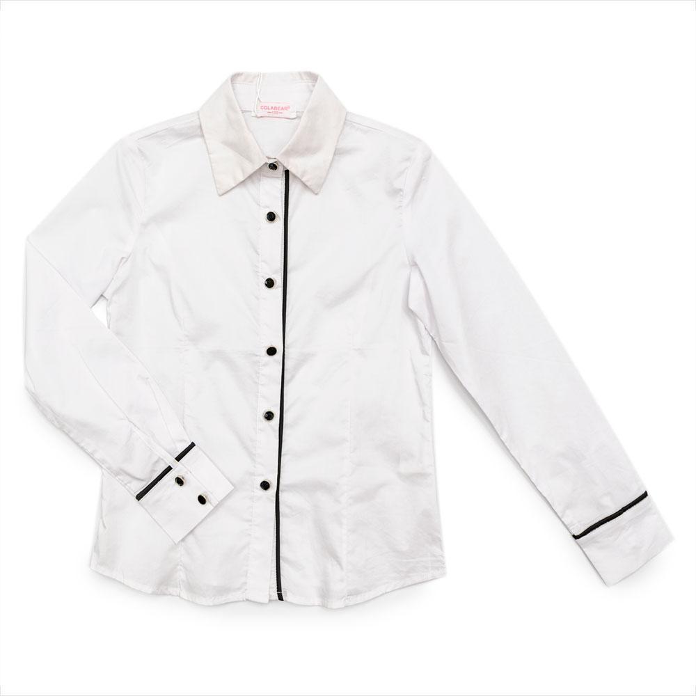 Блуза для девочек Colabear 130  белая 190348