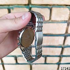 Мужские наручные часы серебристые в стиле Armani. Годинник чоловічий, фото 3