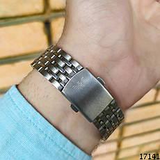 Мужские наручные часы серебристые в стиле Armani. Годинник чоловічий, фото 2