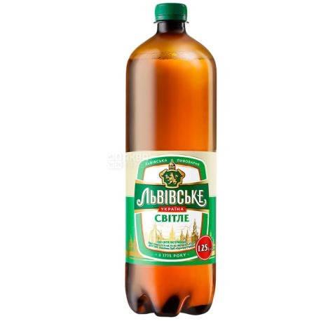 Пиво Львівське Свiтле 1,2л , фото 2