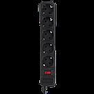Мережевий фільтр LogicPower 5 розеток 4,5 м чорний (LP-X5), фото 3