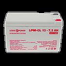 Аккумулятор гелевый LogicPower LPM-GL 12 - 7.5 AH, фото 2