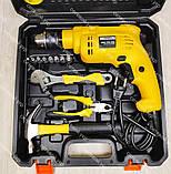 Ударная дрель с набором инструментов, фото 4