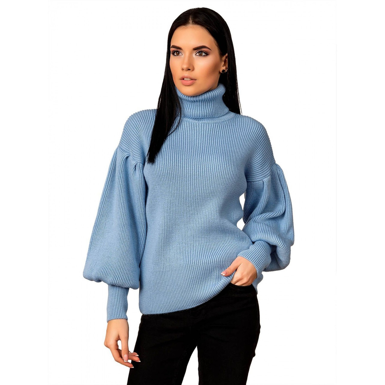 """Стильный женский свитер с рукавом """"рыбка"""",  размер универсальный 42-46"""