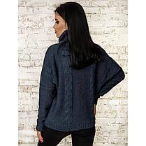 Теплий вільний жіночий светр під горло кольори в асортименті, універсальний розмір 44-48, фото 2