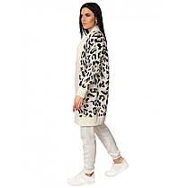 Кардиган молочного цвета в леопардовый принт, размер 42-46, фото 2