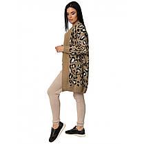 Кардиган молочного цвета в леопардовый принт, размер 42-46, фото 3