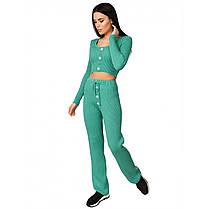 Модный костюм женский хлопковый, размер от 42 до 46, фото 2