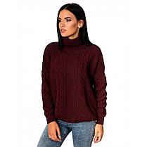 Білий жіночий светр під горло стійка розмір від 44 до 48, фото 3