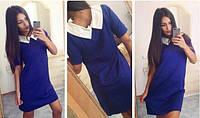 Женское Платье с воротничком ПОШИВ на заказ Р.40-54 *Разные Цвета*, фото 1