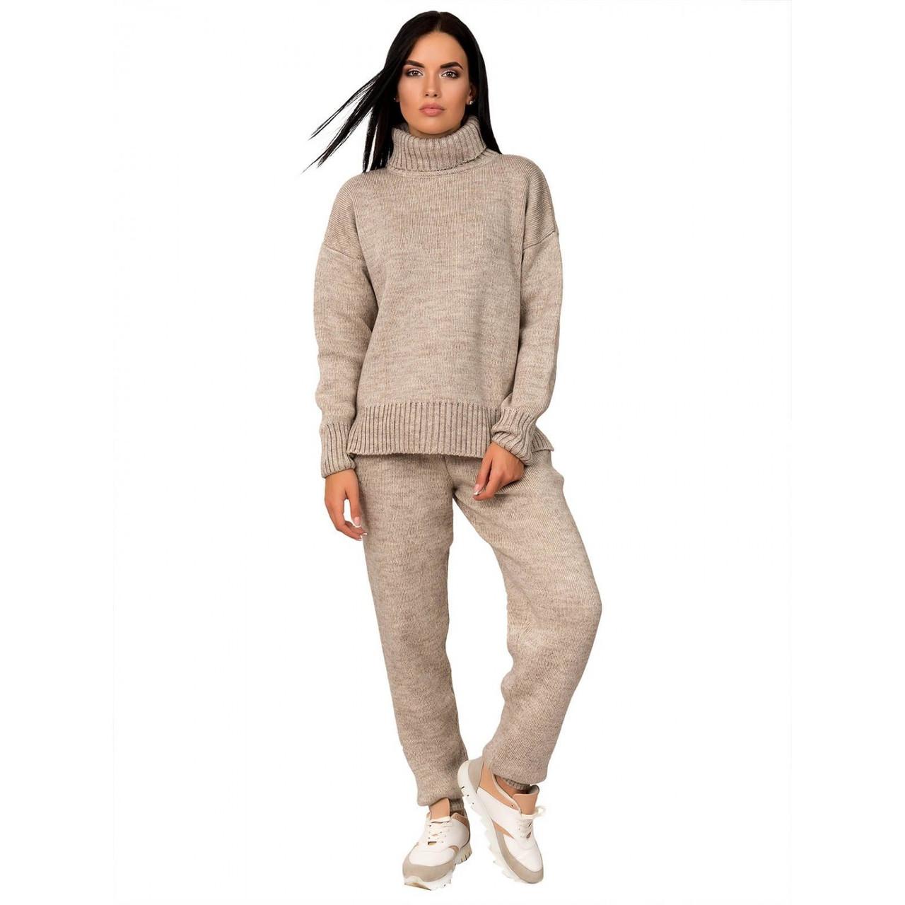 Повседневный костюм женский с брюками  размер универсальный 42-46