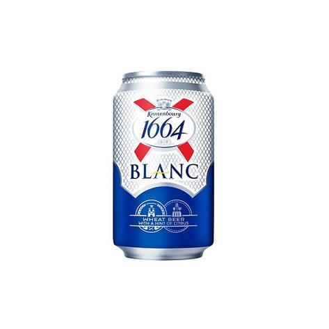 Пиво Кроненбург 0,33л*4шт 1664Бланк 4,8%, фото 2