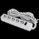 Сетевой фильтр LogicPower 5 розеток 4,5 м серый (LP-X5), фото 2