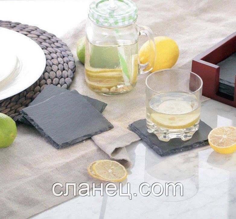 Костеры подставки 9,3*9,3 см Сланцевий посуд