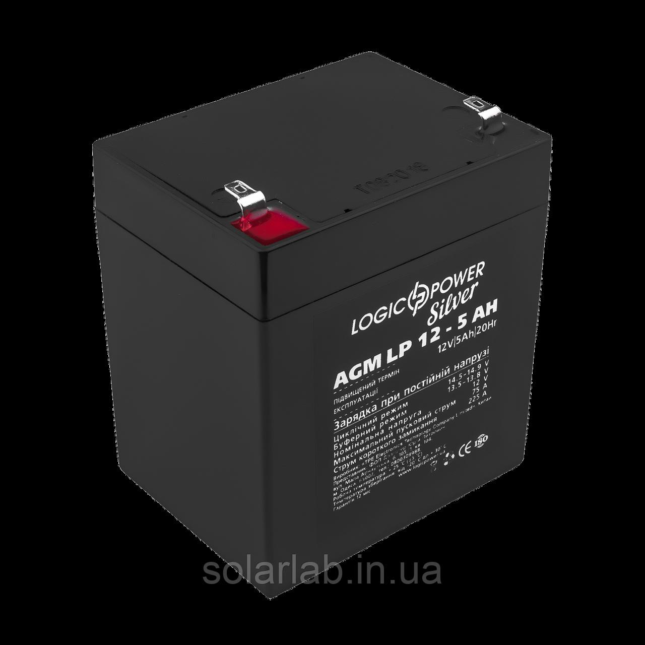 Аккумулятор AGM LP 12 - 5.0 AH SILVER (2018)