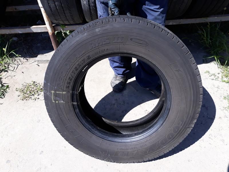 Шины б.у. 225.75.r17.5 Goodyear Regional RHS2 Гудиер. Резина бу для грузовиков и автобусов