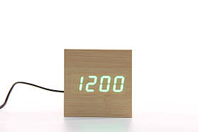 Часы настольные кубик с голосовой активацией