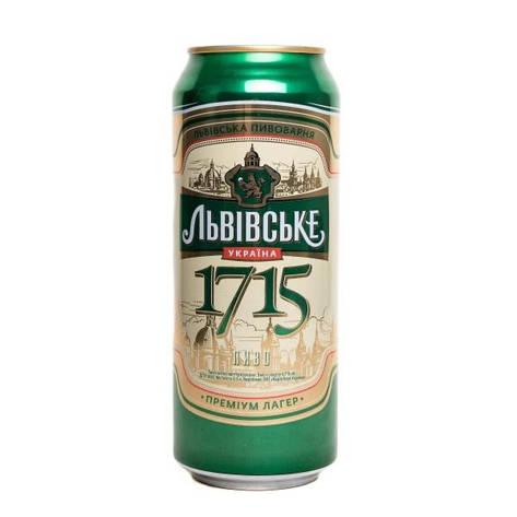 Пиво 1715 Львівське банка 0,5 л, фото 2