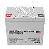 Аккумулятор мультигелевый AGM LogicPower LPM-MG 12 - 55 AH, фото 2