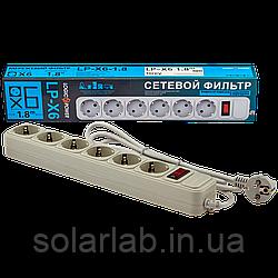 Сетевой фильтр LogicPower 6 розеток 1,8 м серый (LP-X6)
