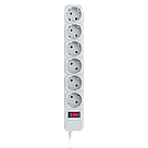 Мережевий фільтр LogicPower 6 розеток 1,8 м сірий (LP-X6), фото 2