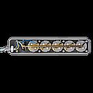 Мережевий фільтр LogicPower 6 розеток 1,8 м сірий (LP-X6), фото 4