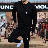 Мужской  спортивный костюм Under Armour черного цвета (андер армор)