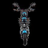 Электрический мопед  CITY gy-4 350W/48V/20AH(DZM) (серо-голубой), фото 2