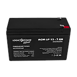 Аккумулятор кислотный AGM LogicPower LP 12 - 7,0 AH SILVER, фото 2