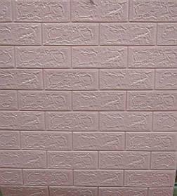 3D панель самоклеящая Обои под декоративный кирпич Розовый Самоклейка 3Д 5 мм