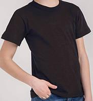 Футболки детские/ подросток чёрные однотонные, 80 - 152 см.